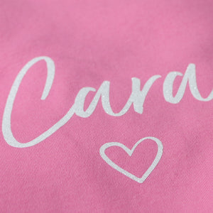 Personalised Name - White Glitter on Pink