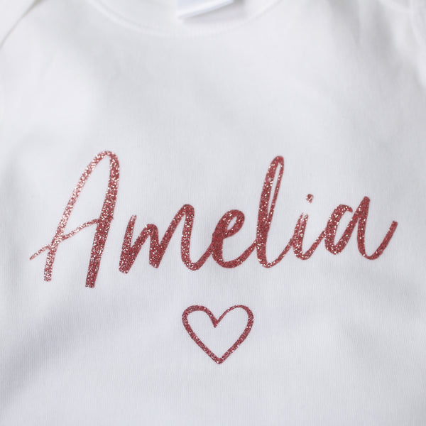 Personalised Name - Rose Gold Glitter