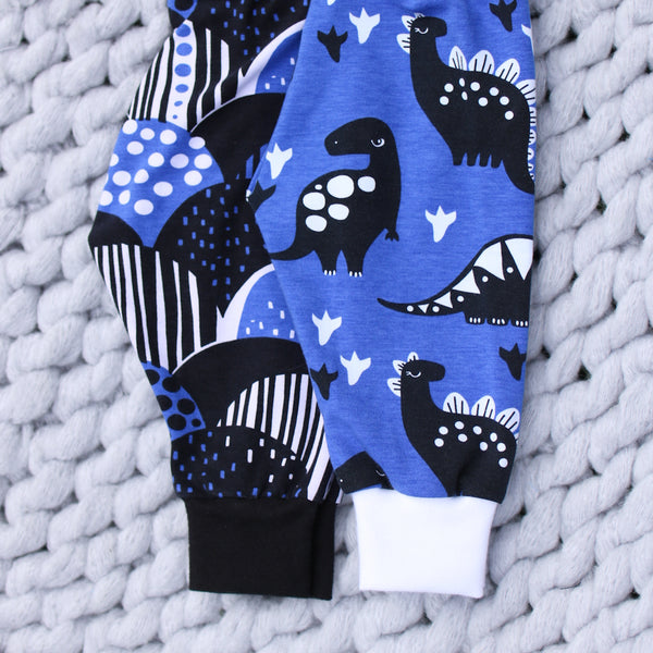 Blue Dinosaurs Organic Leggings