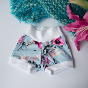Blue Floral Organic Shorts