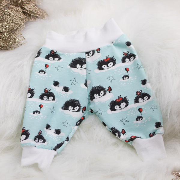Organic Christmas Baby Leggings (Hedgehog)