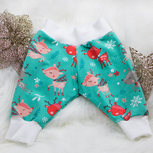 Organic Christmas Baby Leggings (Raindeer)
