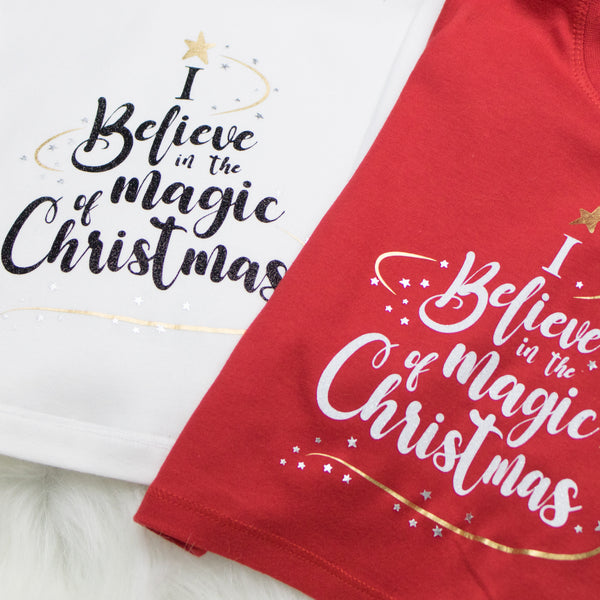 I Believe in the Magic of Christmas (White)