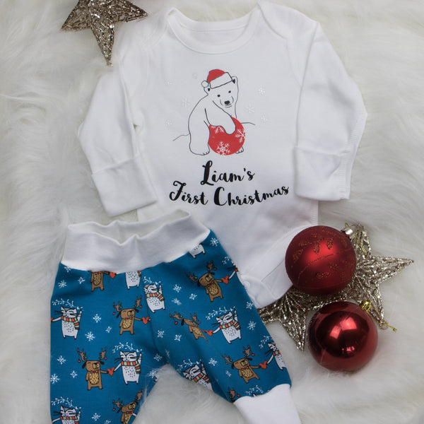 Organic Christmas Baby Leggings (Cats & Dogs)