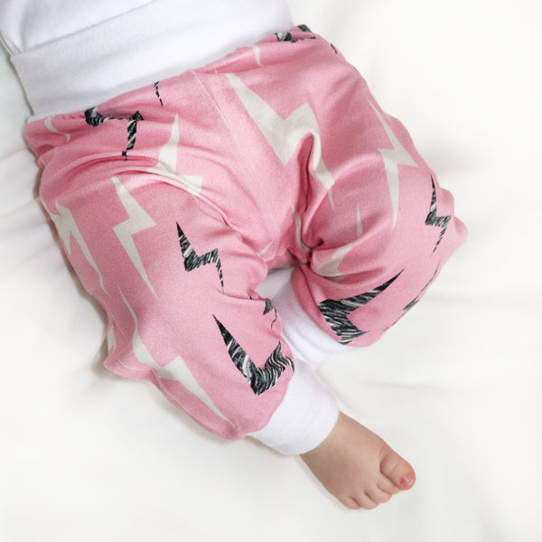 Baby Leggings (Lightning Bolt - Pink)