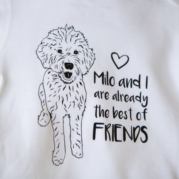 Illustrated Labradoodle Dog (Personalised)