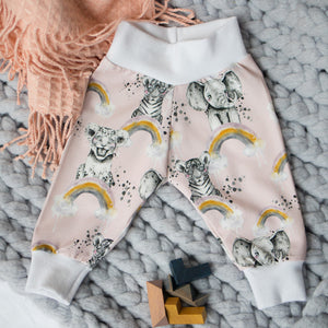 Animal Kingdom Organic Leggings (Pink)