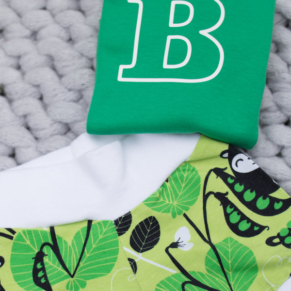Lime Green Woodland Organic Baby Shorts