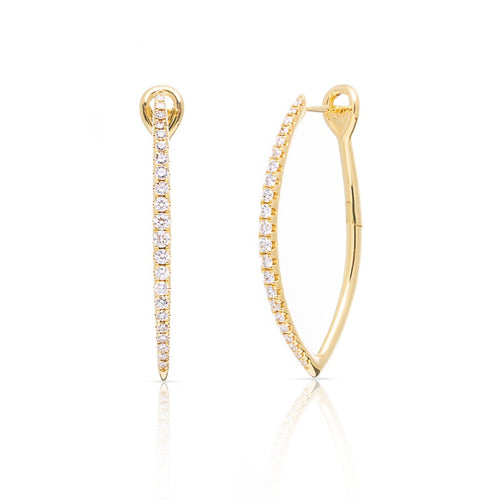 14KT Yellow Gold Diamond Mariana Earrings