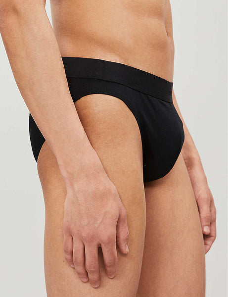 Slim-fit stretch-cotton briefs
