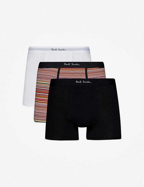 Pack of three slim-fit cotton boxers