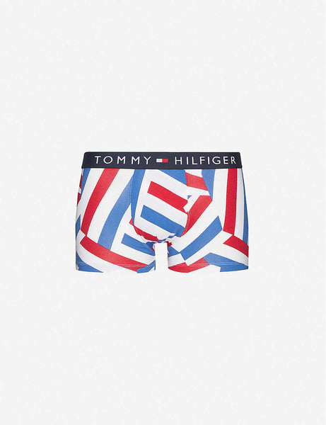Graphic-print stretch-cotton boxers