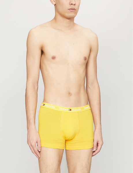 Classic-fit stretch-cotton trunks
