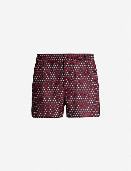 Classic Fit mosaic-patterned cotton boxers