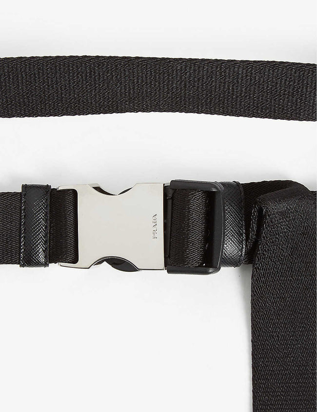 Engraved buckle nylon belt