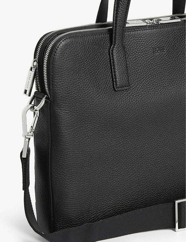 Crosstown Italian-leather double document case