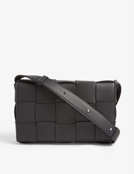 BV Angle leather shoulder bag