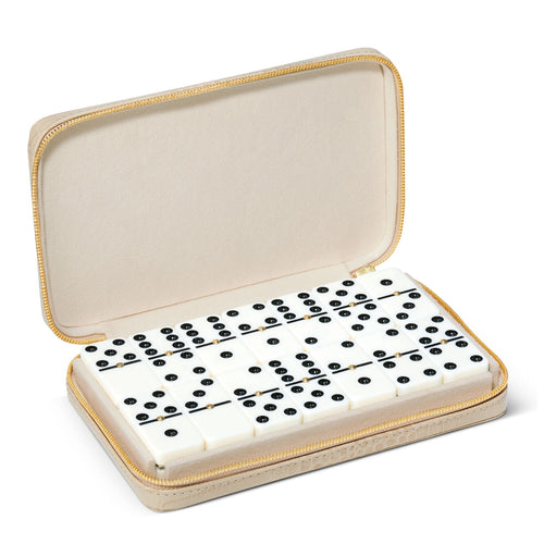 Enzo Travel Domino Set, Fawn