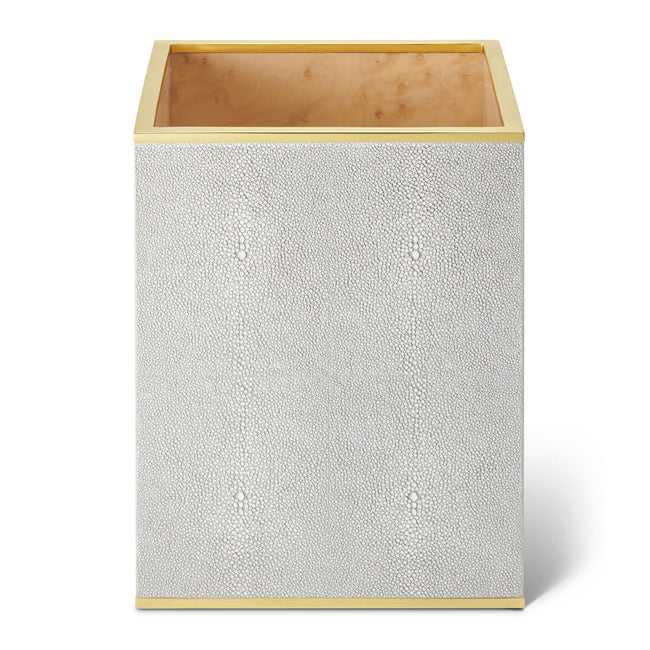 Classic Shagreen Waste Basket, Dove