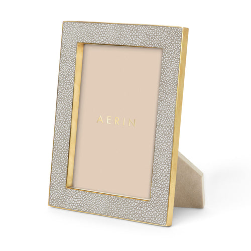 Classic Shagreen Frame, Dove -  5 x 7""