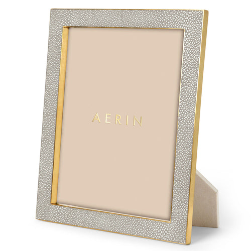 Classic Shagreen Frame, Dove  -  8 x 10""