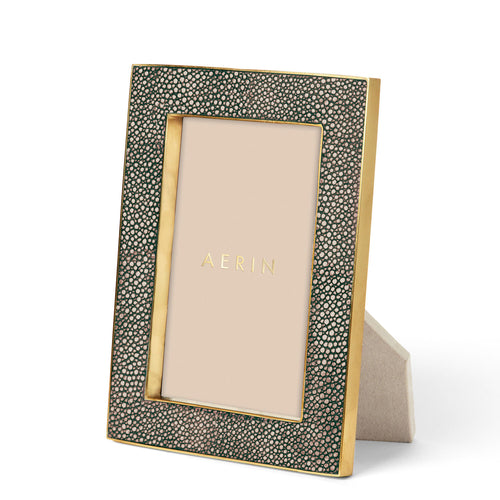 Classic Shagreen Frame, Chocolate -  4 x 6""