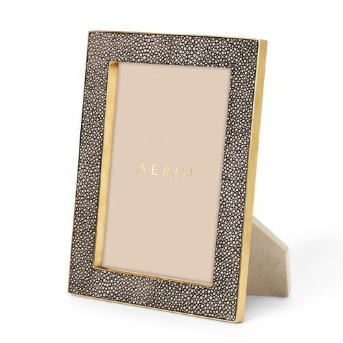 Classic Shagreen Frame, Chocolate  -  5 x 7""