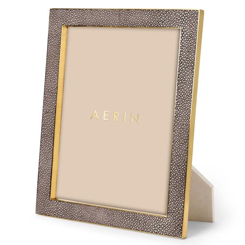 Classic Shagreen Frame, Chocolate  -  8 x 10""