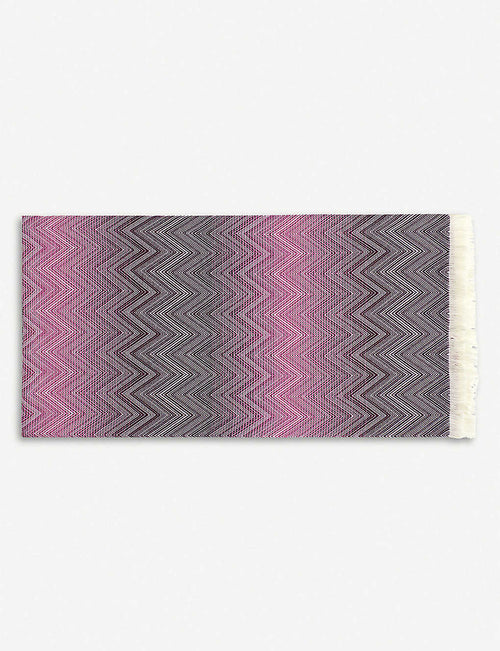 Timmy crochet-knit merino wool throw 130cm x 190cm
