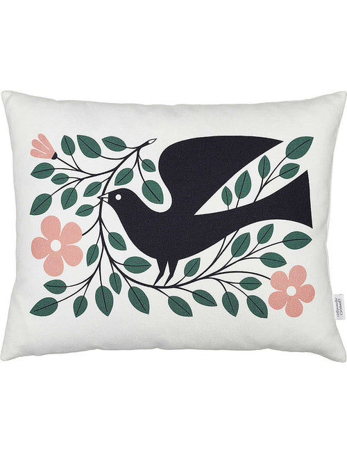 Dove graphic printed pillow