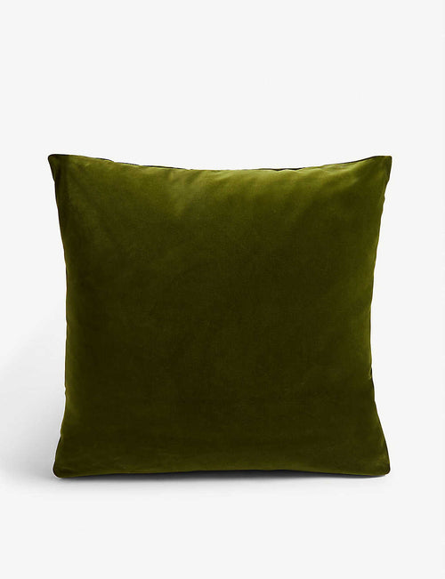 Monroe large velvet square cushion 50cm