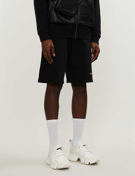 Logo-embroidered cotton-jersey shorts