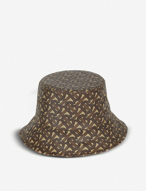 Logo-print coated-cotton bucket hat