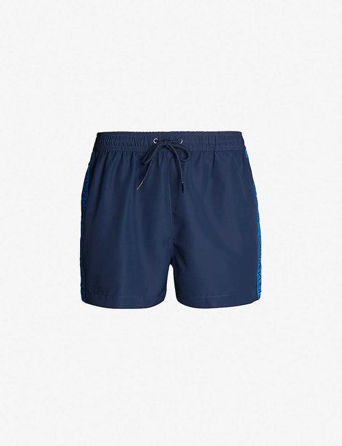Logo-print relaxed-fit swim shorts