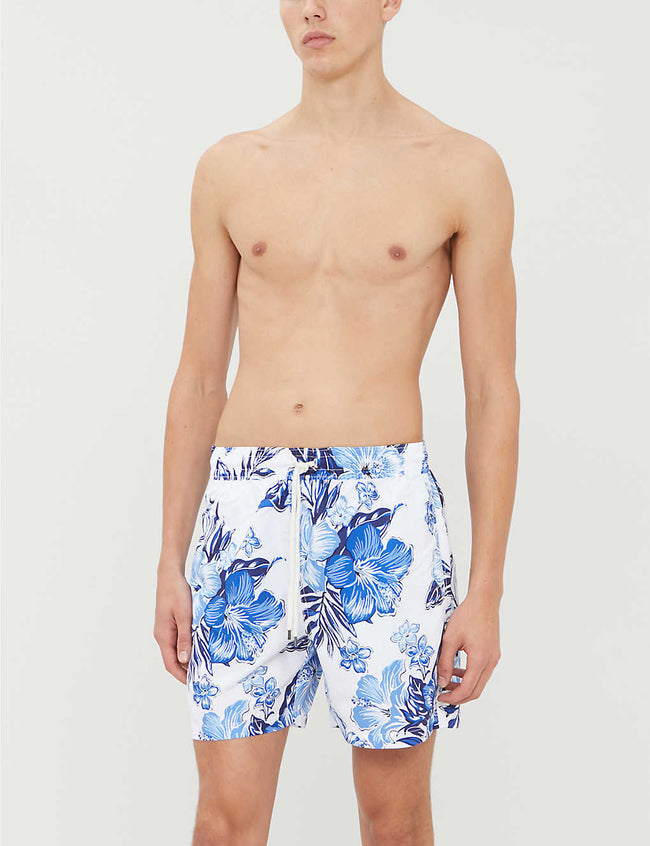 Traveller graphic-print swim shorts