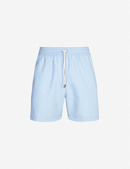Traveller logo-embroidered swim shorts