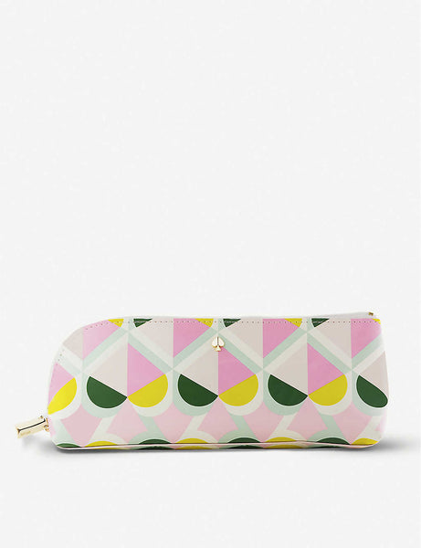 Geospade faux-leather printed pencil case