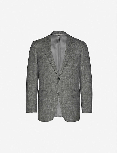 Tailored-fit wool-and-silk-blend jacket