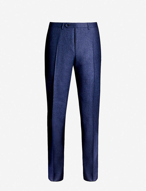 Regular-fit wool trousers