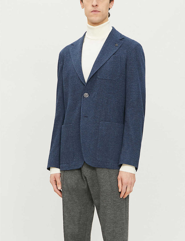 Relaxed tailored-fit cotton-blend jacket