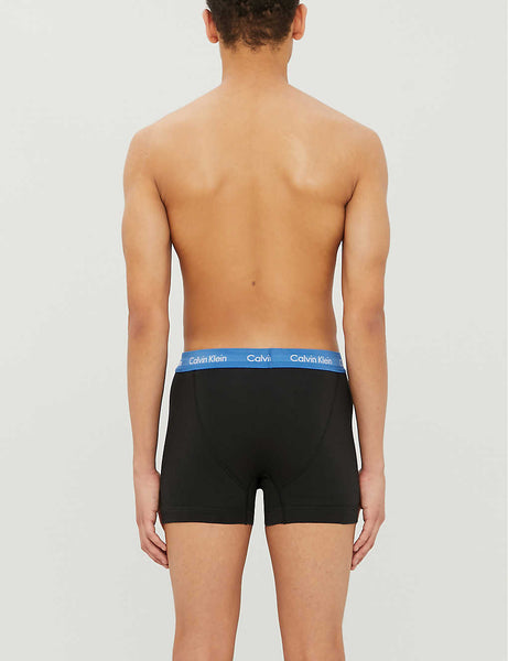Classic-fit stretch-cotton trunks pack of three