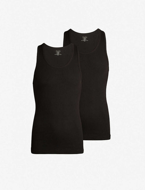 Pack of two Cotton Classics cotton tank top