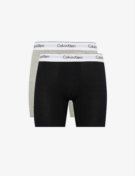 Pack of two Modern Cotton body defining-fit stretch-cotton trunks