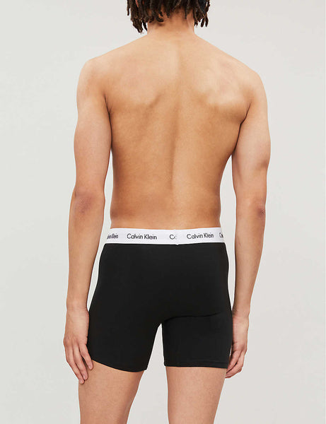 Pack of three slim-fit stretch-cotton trunks