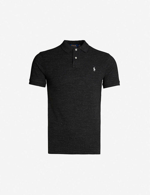 Logo-embroidered slim-fit cotton polo shirt