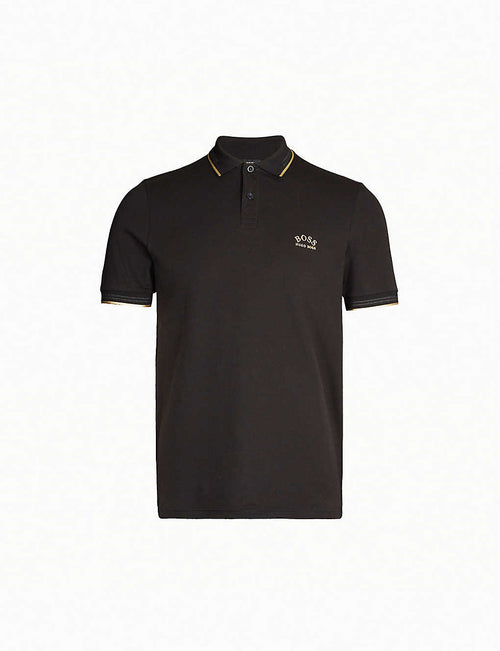 Logo-embroidered slim-fit cotton-piqué polo shirt