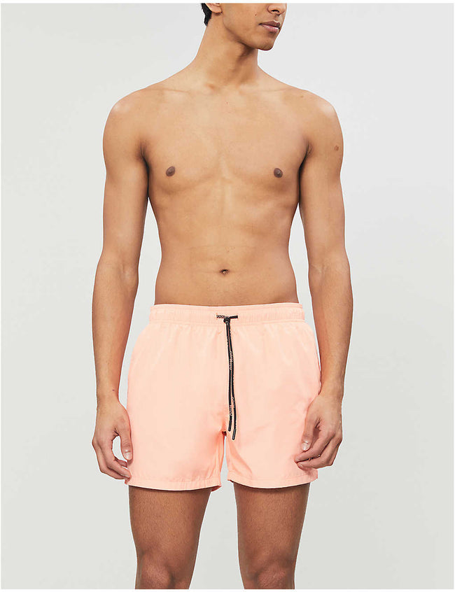 Relaxed-fit wide shell swim short