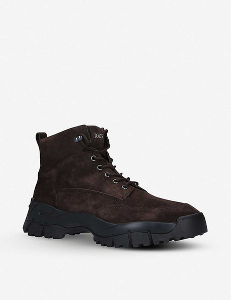 Mountain suede hiking boots