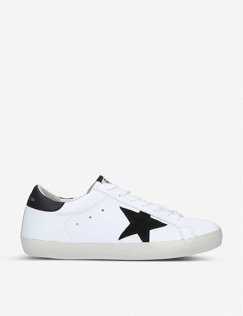 Superstar low-top leather and suede trainers