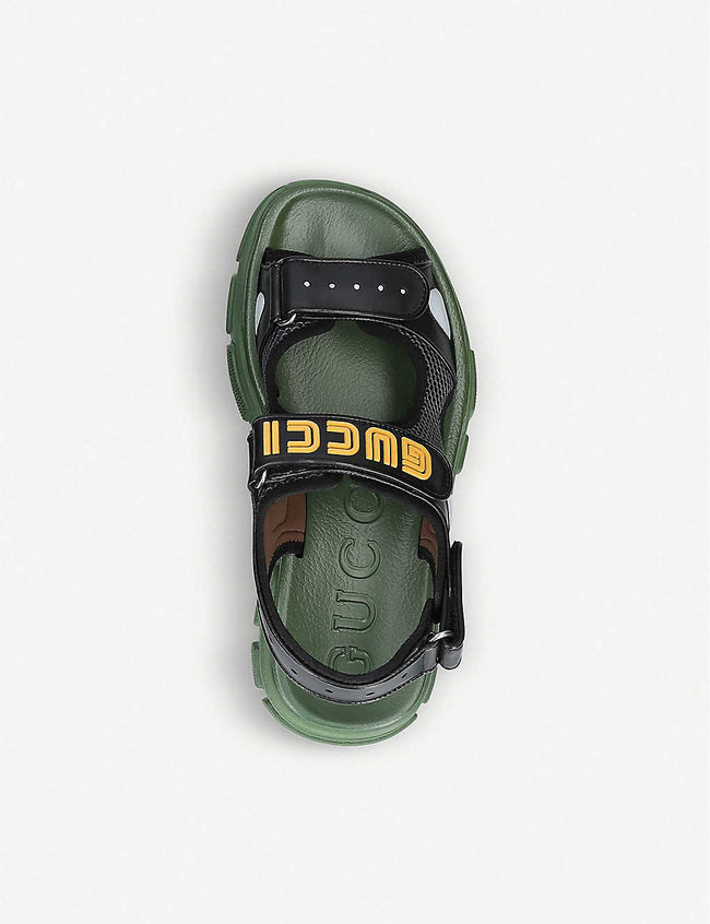 Aguru Trek leather and mesh sandal
